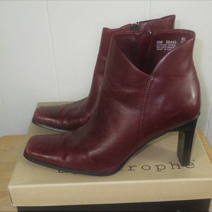 Apostrophe Jada Leather Ankle Boots Size 9 M